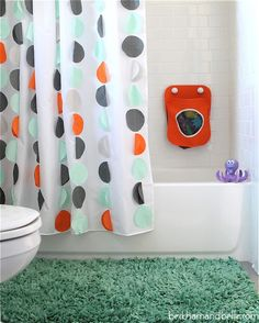 Land of Nod inspired kids shower curtain