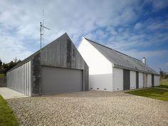 Family House, Klokočná, Prague, Studio pha, white barn, gray barn | Remodelista