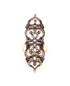 SABINE G - 'Medieval' 18k Rose Gold and Diamond Ring