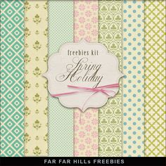 Far Far Hill: New Freebies Kit of Backgrounds - Spring Holiday