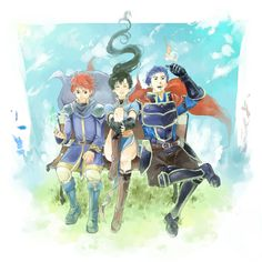 Peace. Eliwood, Lyn, and Hector from FE7.