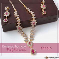 Enhance her look this festive season #Classyplus #Fashion #WomanAccessories #Jewelry https://goo.gl/bwp2ni