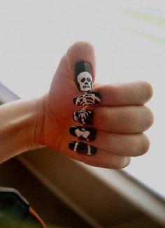 Skeleton finger nails