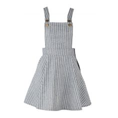 Women's Color Block Striped Adjustable Shoulder Straps Overall Dress (€25) ❤ liked on Polyvore featuring dresses, overalls, skirts, vestidos, bottoms and grey