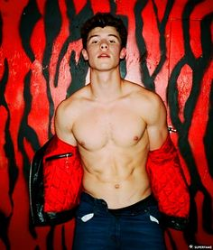 "New adult Shawn Mendes is forging ahead with his new ""sex symbol"" status with yet another shirtless magazine photoshoot. Shawn was snapped for an upcoming Shawn Mendes Tour, Shawn Mendes Memes, Shawn Mendes Imagines, Shawn Mendes Shows, Shawn Mendes Sin Camisa, Shawn Mendes Shirtless, Shirtless Men, Nick Jonas Shirtless, Cover Boy"