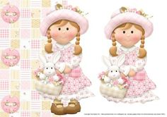 Over the edge easter girl topper decoupage on Craftsuprint - Add To Basket!