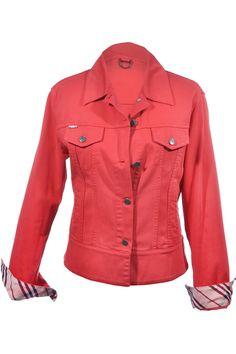 #Burberry London | Klassische #Jeansjacke mit Check-Futter, Gr. L | Burberry | mymint-shop.com | Ihr #OnlineShop für #Secondhand / #Vintage #Designerkleidung & #Accessoires bis zu -90% vom Neupreis das ganze Jahr