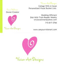 New business cards - LOVE LOVE LOVE! http://www.seeyourvisionart.com