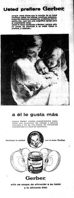 Publicidad de Gerber para el Día de las Madres. Publicado el 9 de mayo de 1964.