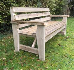 Woodland style sustainable wooden garden bench - extremely robust and solid manufactured from Swedish Redwood and tanilised with an enviromentally friendly treatment.  No need for any maintenance at all and can be left outside all Winter.  This wooden garden bench is popular with wildlife organisations, woodland areas,
