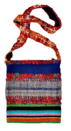 Hemp And Recycled Silk Shoulder Bag 102