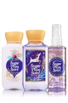Sugar Plum Swirl Travel Size Daily Trio - Signature Collection - Bath & Body Works