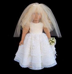 American Girl Doll Clothes Ruffle Wedding Gown Dress by SewSoNancy, $25.00