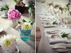 Use herbs like Bay Leaf to dress your wedding breakfast place settings