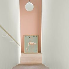 Wall Paint: Fenomastic My home Rich Matt: 2992 Delightful pink, Rich Matt 1624 Skylight Pink Hallway, Hallway Colours, Wall Colors, Interior Desing, Interior Inspiration, Interior And Exterior, Interior Styling, Jotun Lady, Halls