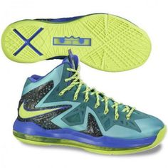 """THE SNEAKER ADDICT: 2013 Nike LeBron X P.S. Elite Turquoise/Violet """"Purple Sprite"""" Sneaker (Release Date & Images)"""