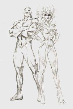 Comic Book Artists, Comic Book Characters, Comic Artist, Marvel Characters, Comic Books Art, Arte Dc Comics, Marvel Comics Art, Character Art, Character Design
