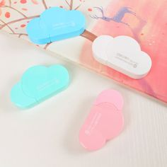 1pc 6.5*3.6*1.3cm Cute Kawaii Mini Small Fresh Creative Clouds Modeling 5m Correction Tape Candy Color DIY Kids Stationery Set