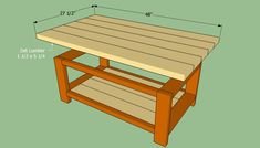This step by step diy project is about how to build a coffee table. We show you how to build a simple coffee table, using wooden boards and common tools. Build A Coffee Table, Simple Coffee Table, Coffee Table Design, Woodworking Techniques, Woodworking Projects, Diy Projects, Garage Tool Storage, Wood Screws, Wood Table