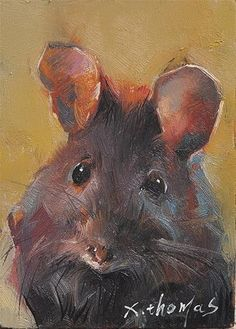 """Daily Paintworks - """"mouse"""" - Original Fine Art for Sale - © Thomas Xie"""
