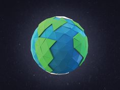 Planet Earth Low-Poly by Simon-Pierre Légaré