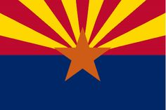 Find details and a picture of the Arizona Flag. In designing the Arizona Flag, the first consideration was historical value; the second was colors. Us States Flags, U.s. States, United States, Living In Arizona, State Of Arizona, Arizona Usa, Az State, Visit Arizona, Tucson Arizona