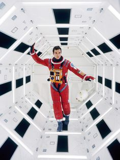 Keir Dullea on the Discovery set of 2001: A Space Odyssey. Photo by Dmitri Kessell.