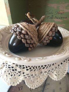 diy fall acorns using plasinc eggs, crafts, repurposing upcycling