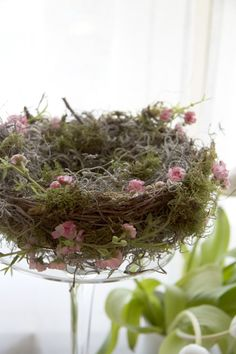 Woodland Nesting » Just a Smidgen Try this easy 20 minute DIY and make your own little nest for the Easter Bunny.. or special occasion. xx #Easter #Eastercraft #Easterdiy
