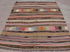 "Anatolia Turkish Antalya Nomads Kilim 64"" x 82"" Area Rug Kilim Carpet | eBay"