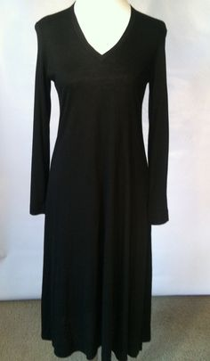 7173b397e07 Diane Von Furstenberg Black Dress    1970s    Designer    Little Black  Dress    DVF    Maxi Dress