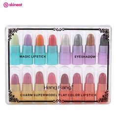 New Arrival 16Pcs/Set Moisturizing Long-lasting Lipstick Easy to Wear Pintalabios Professional Makeup Lips Cosmetic For Female