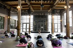 "Schizophrenia Society of Ontario's ""Peace of Minds Yogathon"" at Steam Whistle Brewing"