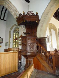 Bishop's Waltham - Pulpit In St Peters Church