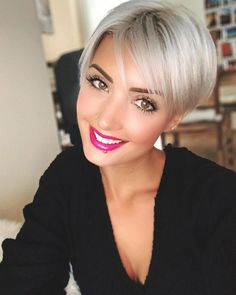 Today we have the most stylish 86 Cute Short Pixie Haircuts. Pixie haircut, of course, offers a lot of options for the hair of the ladies'… Continue Reading → Short Grey Hair, Short Hair With Layers, Short Blonde, Short Hair Cuts For Women, Blonde Hair, Short Hair Styles, Short Hair Undercut, Undercut Hairstyles, Short Bob Hairstyles