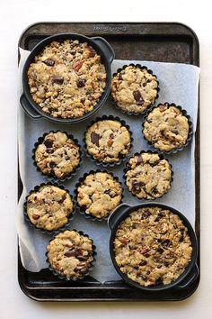 Butterscotch Pecan  Dark Chocolate Cookie Tarts | The Sugar Hit