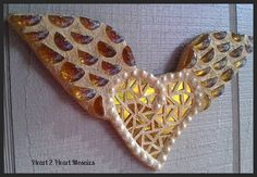 FREE SHIPPING for the month of December  by Heart2HeartMosaics, $25.00  Gold Glass Angel Wing Heart Mosaic  https://www.facebook.com/Heart2HeartMosaics #heart2heartmosaic #hearttoheartmosaic #cindyharris