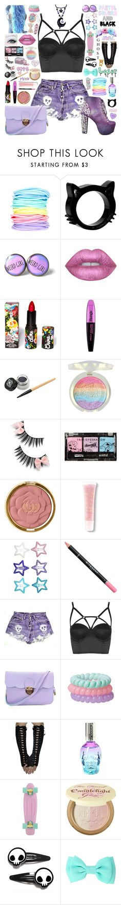 """How To Be A Pastel Goth 3"" by aspiretoinspire22 ❤ liked on Polyvore featuring ASOS, Lime Crime, L'Oréal Paris, River Island, Milani, Lancôme, H&M, Givenchy, Topshop and Too Faced Cosmetics"