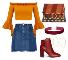 Autumn Outfit by flaviamarino on Polyvore featuring polyvore fashion style Mercedes Castillo Chloé Miss Selfridge Jennifer Fisher clothing
