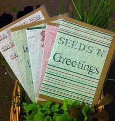 Plantable x-mas cards.