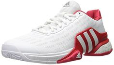 adidas Performance Men's Barricade 2016 Boost Tennis Shoe, White/White/Ray Red Fabric, 9.5 M US ** Check this awesome product by going to the link at the image.