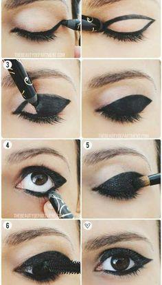 Макияж эффект большие глаза