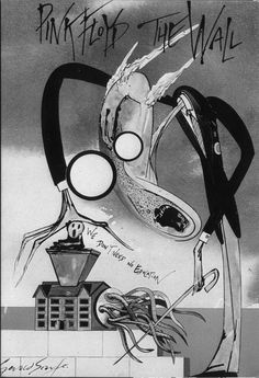 The meat grinder of the education system - Pink Floyd's lyrics to Another Brick in the Wall Part 2 as expressed by artist Gerald Scarfe.