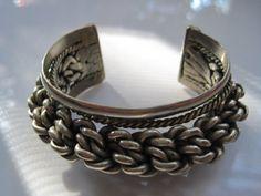 Egyptian Braided Bracelet  Tribal Cuff  Ethnic Jewelry by Anteeka