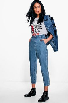 Sophie Seam Front Mom Jeans