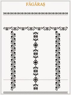 ie de Fagaras Blackwork Patterns, Textile Patterns, Beading Patterns, Cross Stitch Patterns, Crochet Patterns, Medieval Embroidery, Folk Embroidery, Embroidery Patterns, Cross Stitch Borders
