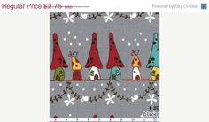 ON SALE Woodland Neighbors in Grey by Natalie Lymer  by sewmeasong, $2.06