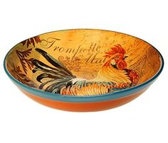 Purchase the Certified International Rustic Rooster Pasta/Serving Bowl, 12.75 by 3-Inch, Multicolor securely online at charingskitchen.com today.