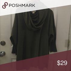 If It Were Me Anthropologie Cowsneck Sweater XL Dark green color Size Xlarge. Preowned but in good condition. It can be a dress 👗 or long sweater. Anthropologie Sweaters Cowl & Turtlenecks
