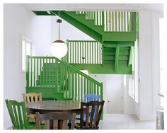 Green stairs!
